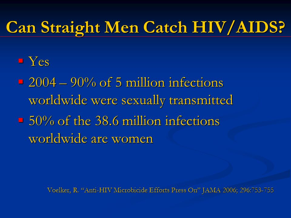 Can Straight Men Catch HIV/AIDS.