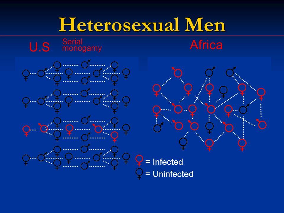 U.S. Africa Serial monogamy = Infected = Uninfected Heterosexual Men