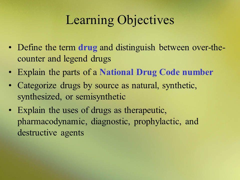 Drug References Official legal standards for drugs in the U.S.