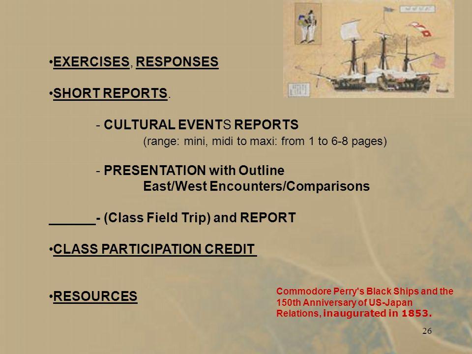 26 EXERCISES, RESPONSES SHORT REPORTS.