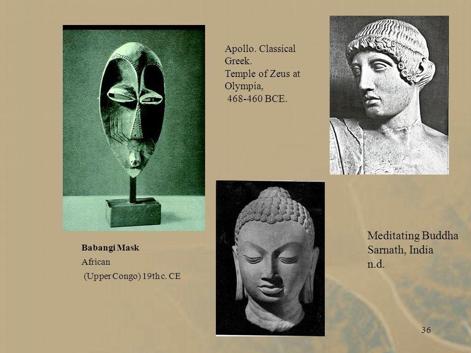 36 Babangi Mask African (Upper Congo) 19th c.CE Apollo.