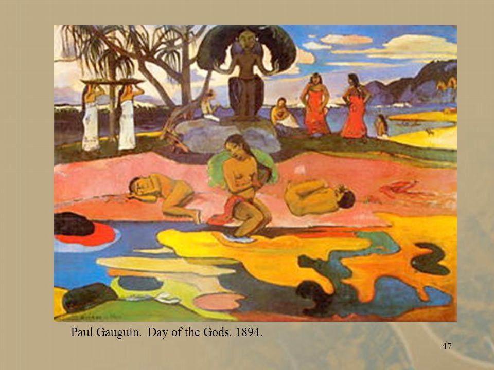 47 Paul Gauguin. Day of the Gods. 1894.