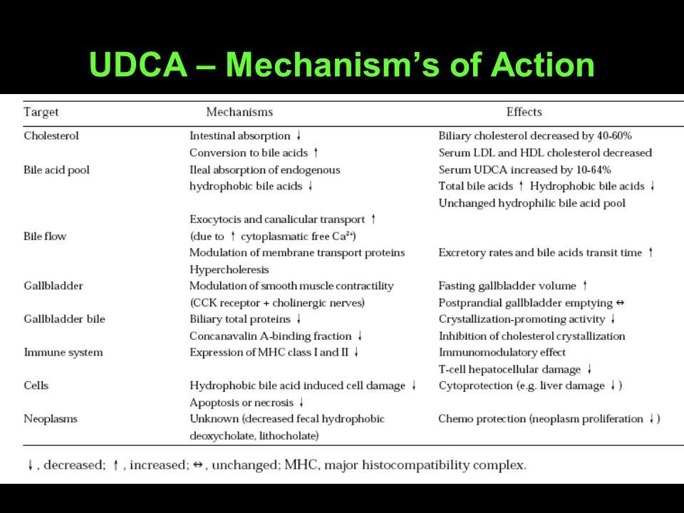 UDCA – Mechanisms of Action