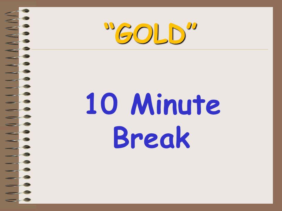10 Minute Break GOLD