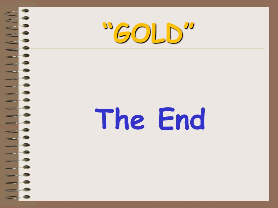 The End GOLD