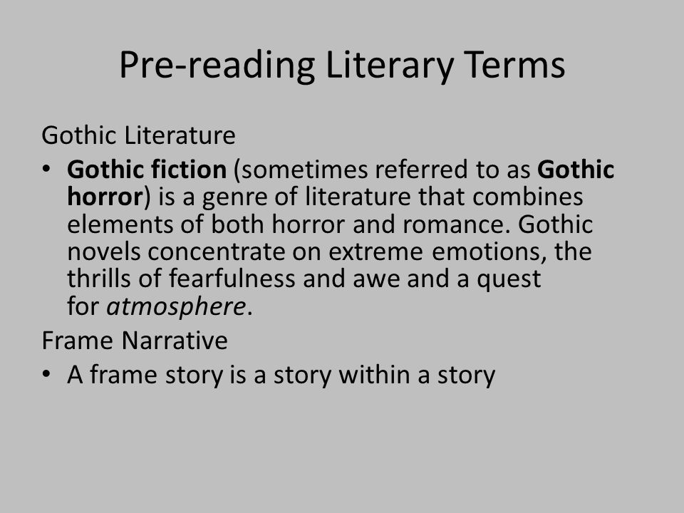 What is Gothic.