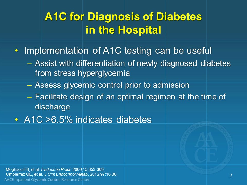 Saudek CD, et al.JAMA. 2006;295:1688-1697. ADA. Diabetes Care.