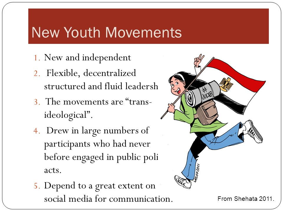New Youth Movements 1. New and independent 2.