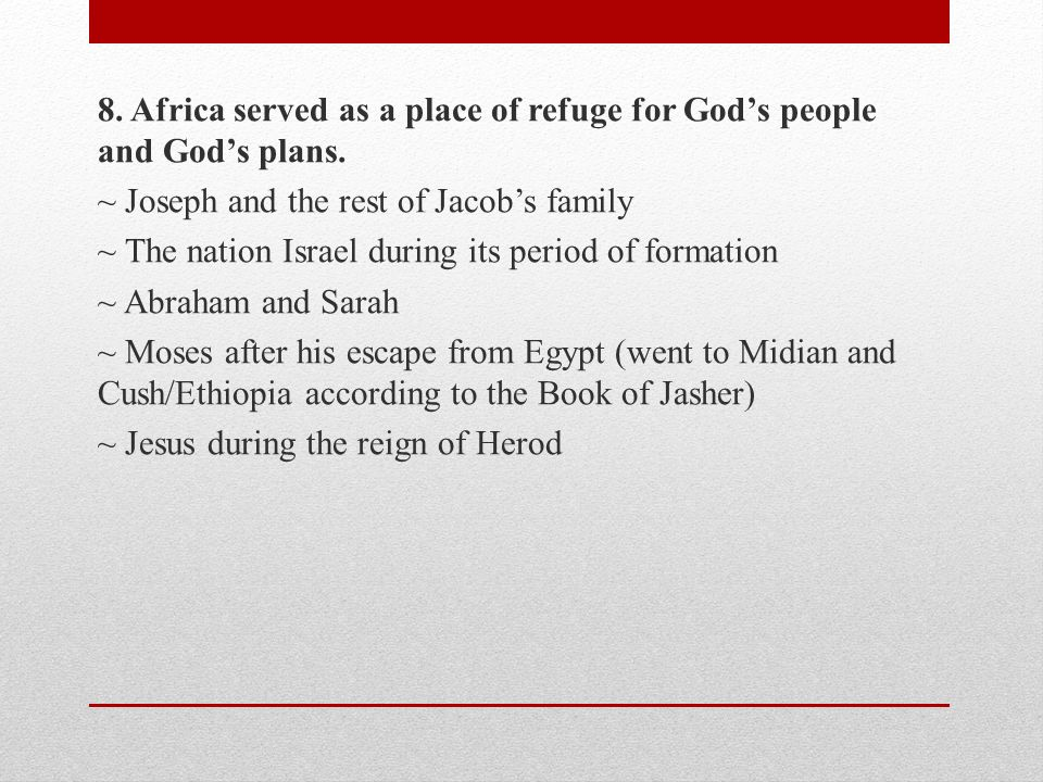 AFRICAN MISSIONS DURING THE TIME OF CHRIST