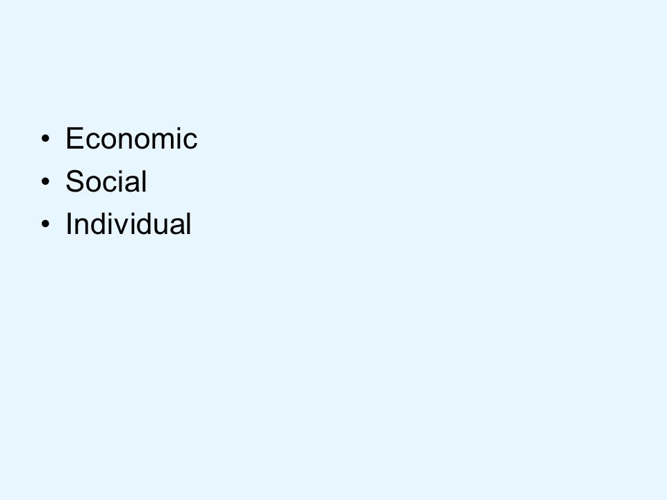What types of economic value / impact might there be? Economic?