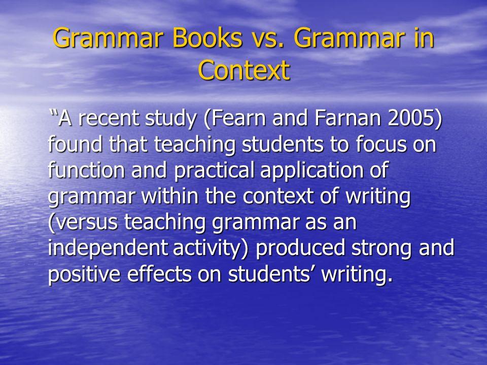 Grammar Books vs.