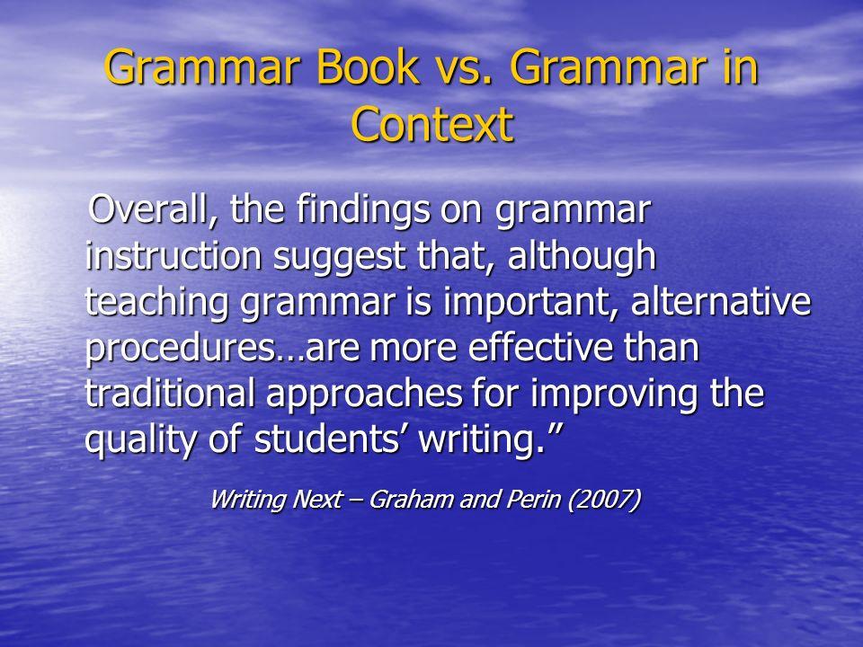 Grammar Book vs.