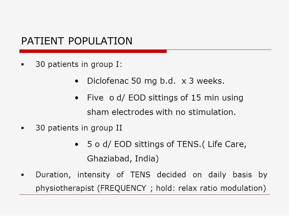 STUDY DESIGN Osteoporosis management as routine No opioids, TCAs, SSRIs etc.