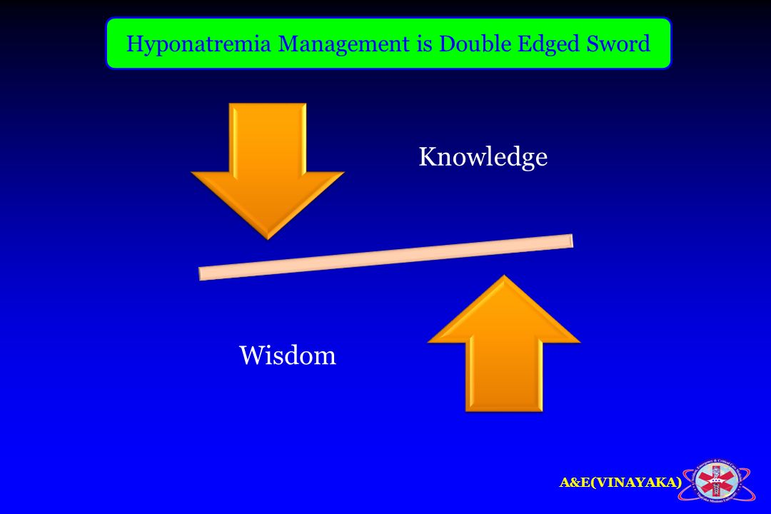 A&E(VINAYAKA) Knowledge Wisdom Hyponatremia Management is Double Edged Sword