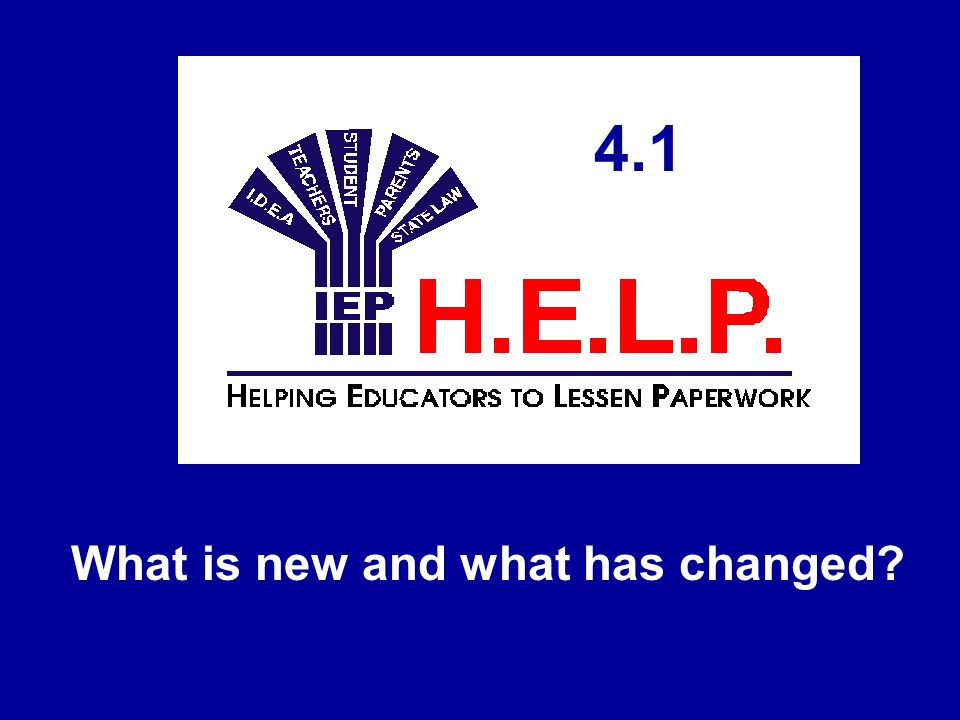 Does H.E.L.P.4.1 work differently. H.E.L.P.