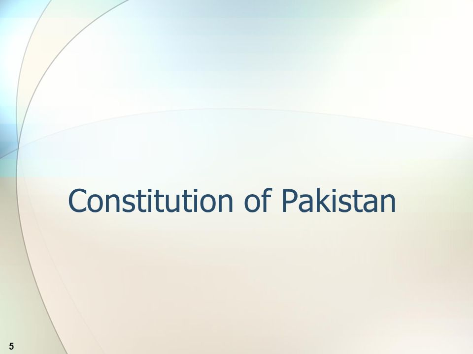 5 Constitution of Pakistan
