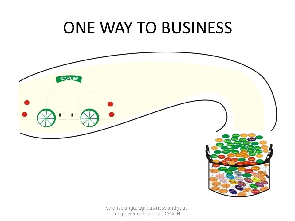 ONE WAY TO BUSINESS sotonye anga, agribusiness and youth empowerment group, CASON