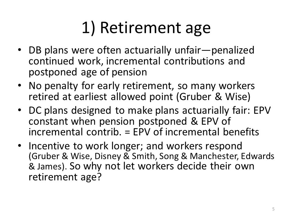 Conclusion (2) Flat & min pensions protect women but 50-80% implicit tax discourages womens market work.