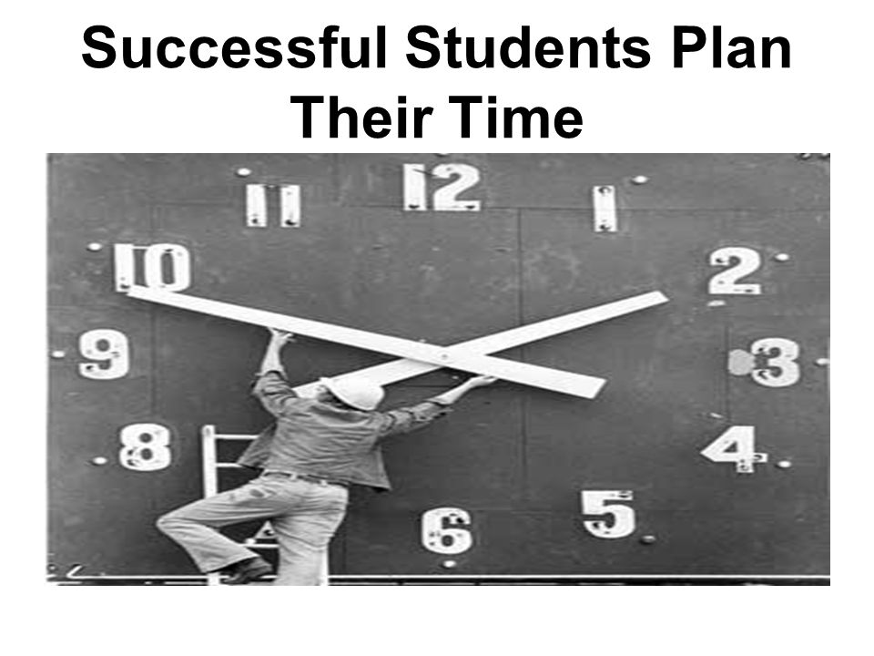 Successful Students Plan Their Time