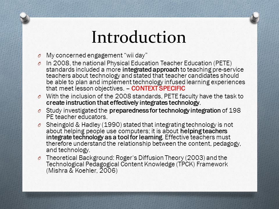 Questions that arose O Technology Course or not.O Full integration but how.