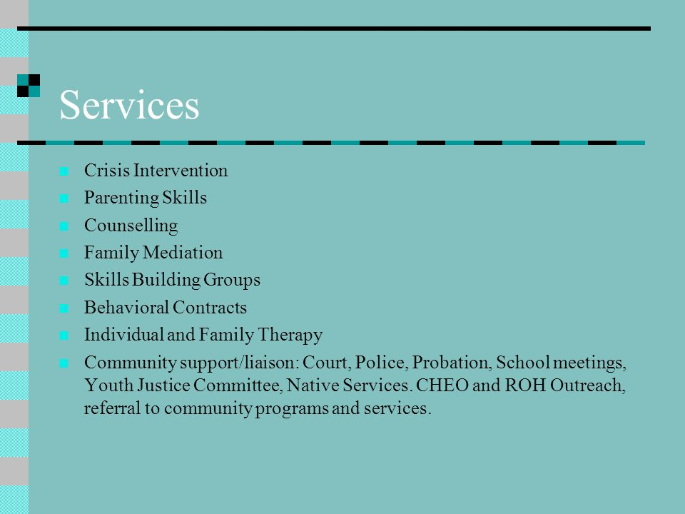 2006-2007 A-Team 2 Child Protection Workers, 1 Child and Youth Care Worker, 1 Mental Health Therapist, 2 Supervisors.