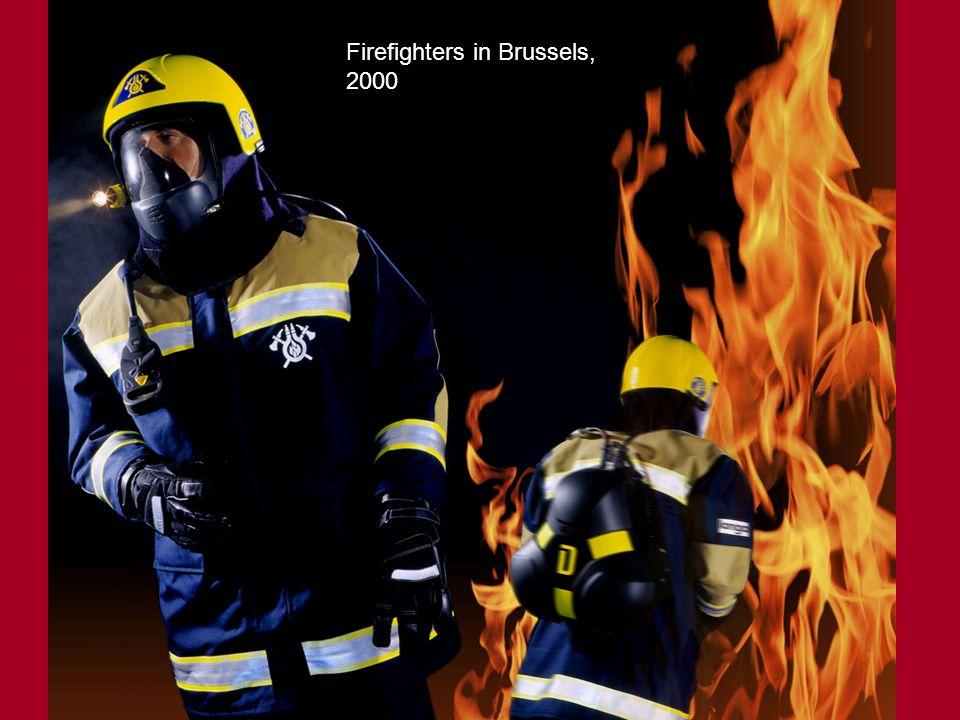 Firefighters in Brussels, 2000