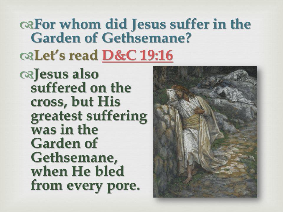 What happened to Jesus as He prayed in the Garden of Gethsemane? Lets read L L L L L uuuu kkkk eeee 2222 2222 :::: 4444 4444 & M M M M M oooo ssss iii