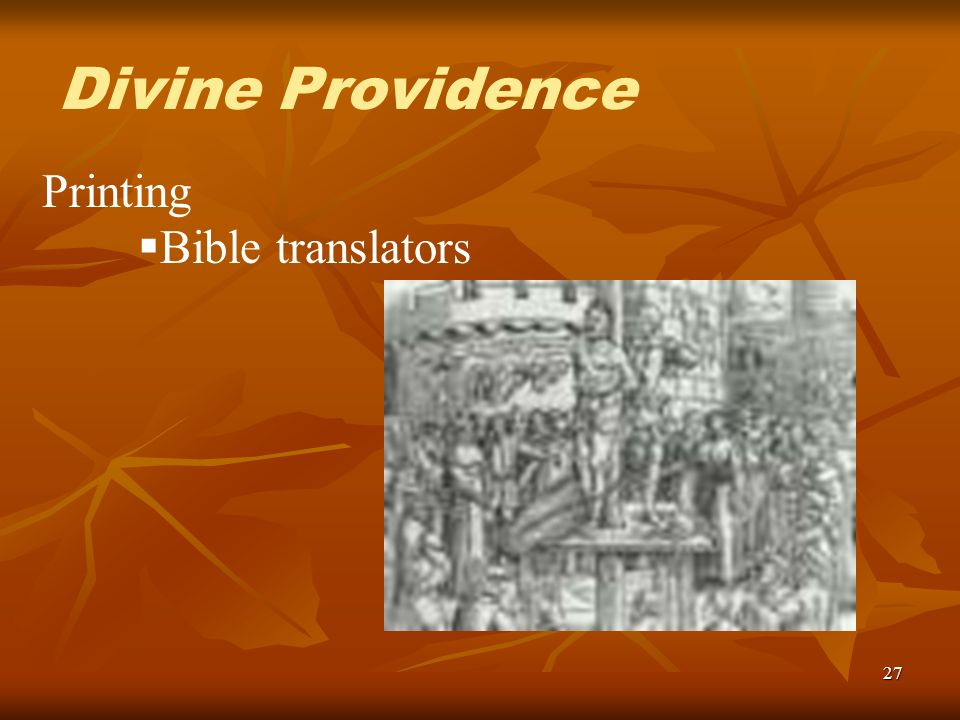 27 Printing Bible translators Divine Providence