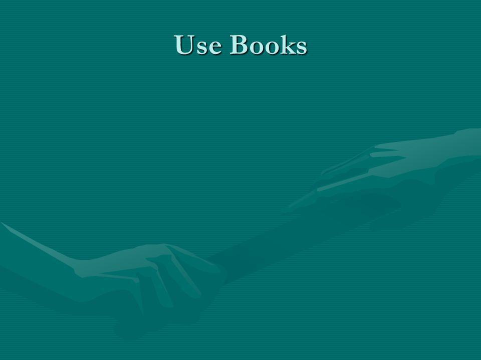 Use Books