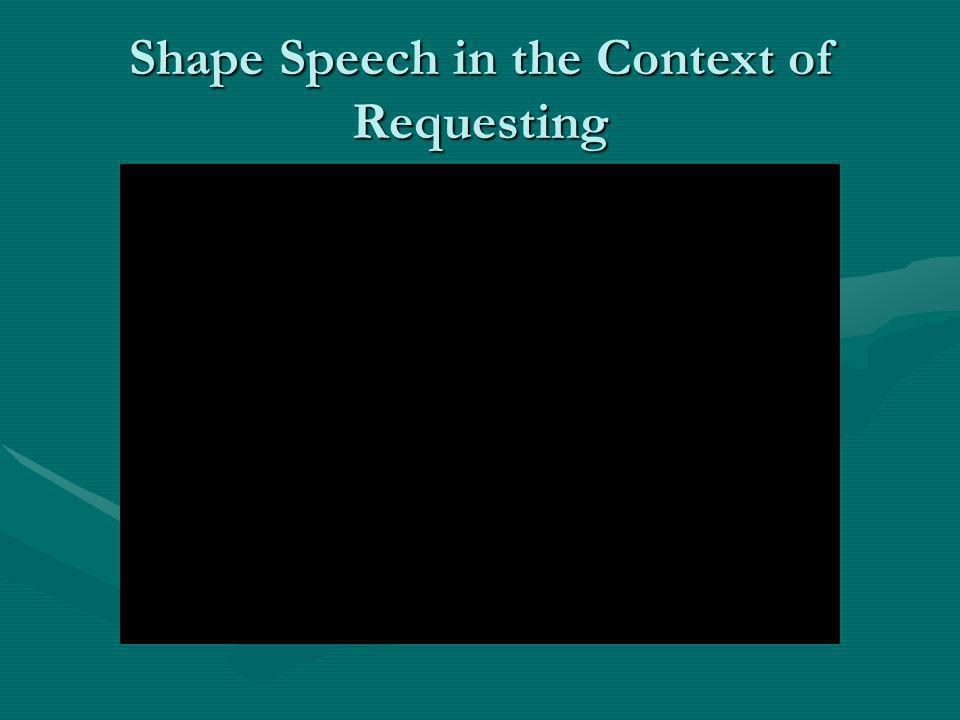 Shape Speech in the Context of Requesting