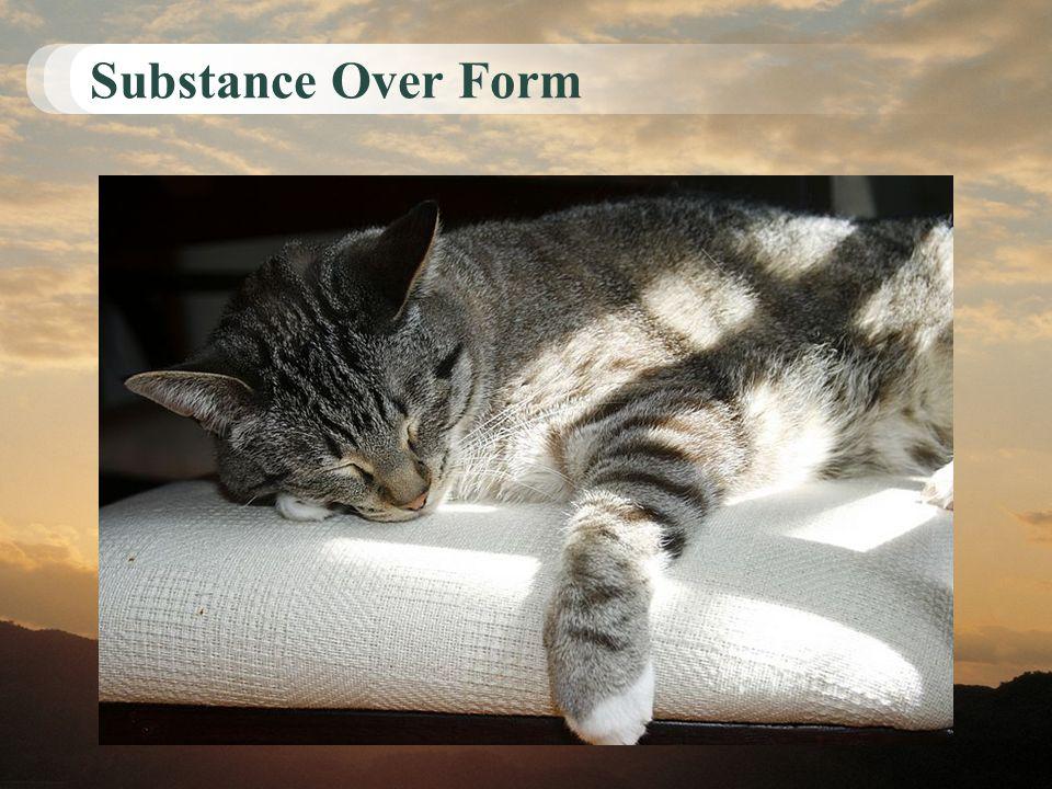 Substance Over Form