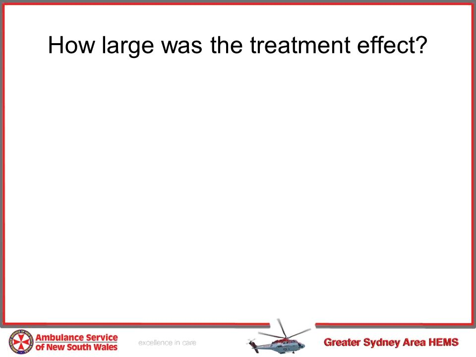 How large was the treatment effect