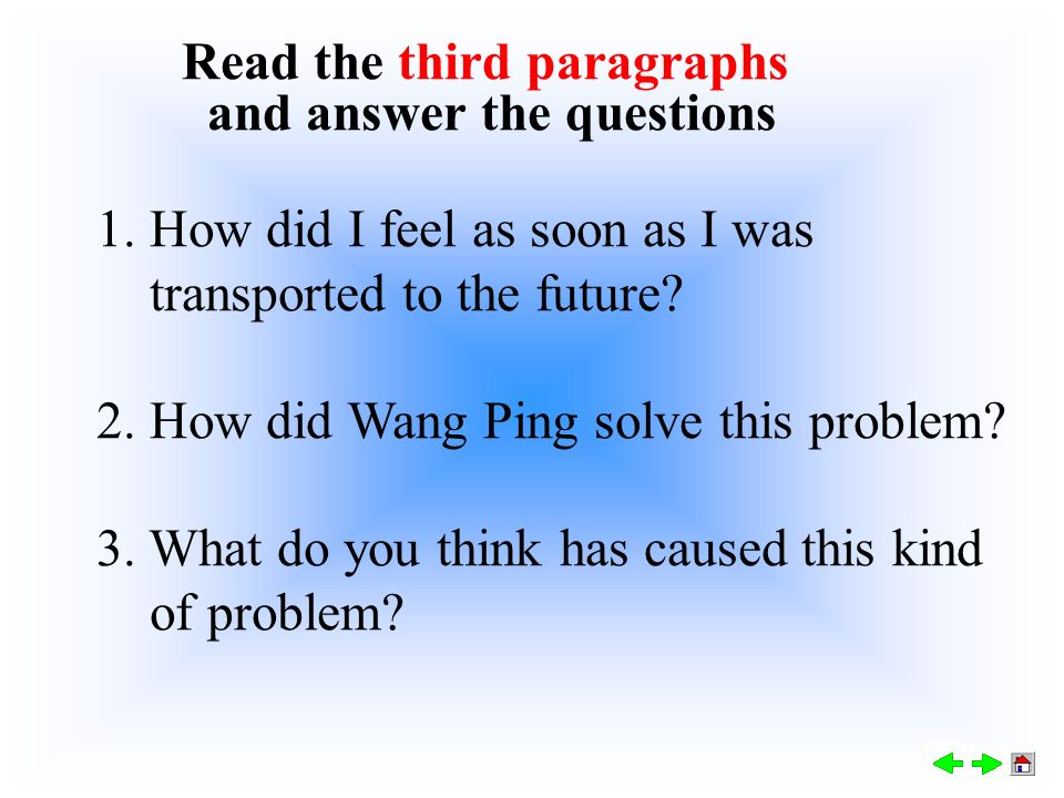 5. Why did my guide give me some tablets? Wang Ping's parents' company transported us to the future. The tablets could help me feel less nervous and u