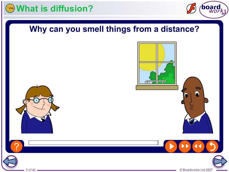 © Boardworks Ltd 20073 of 44 What is diffusion?