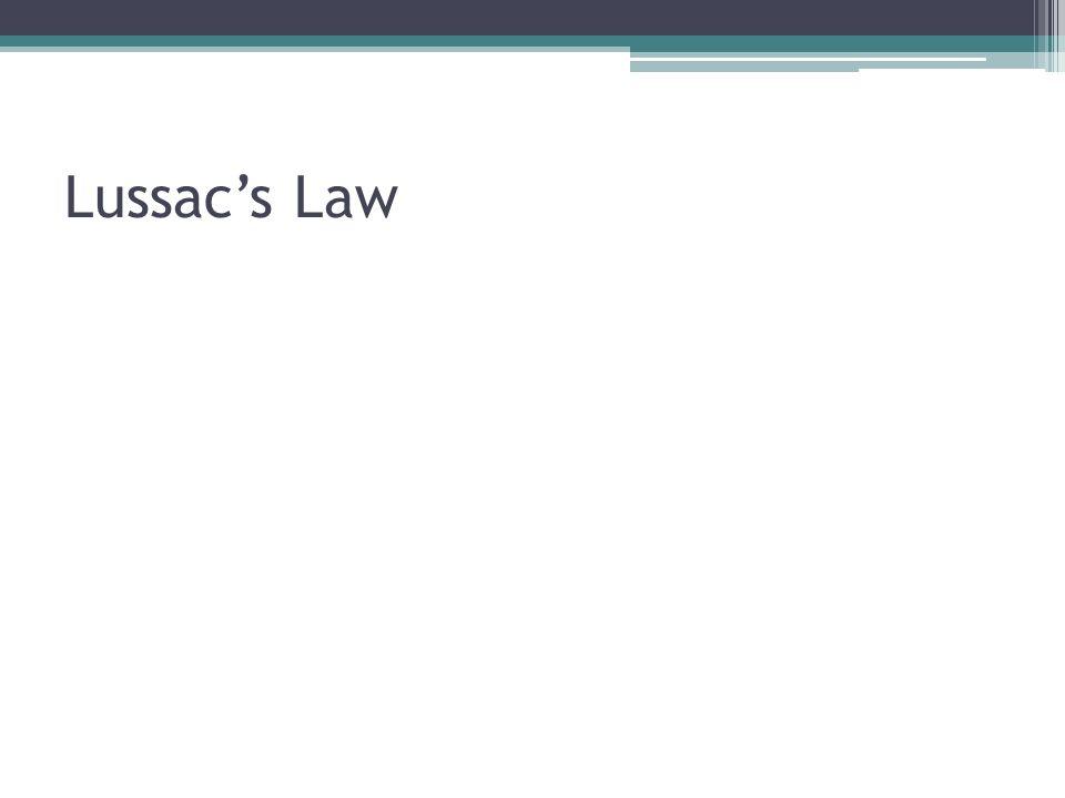 Lussacs Law