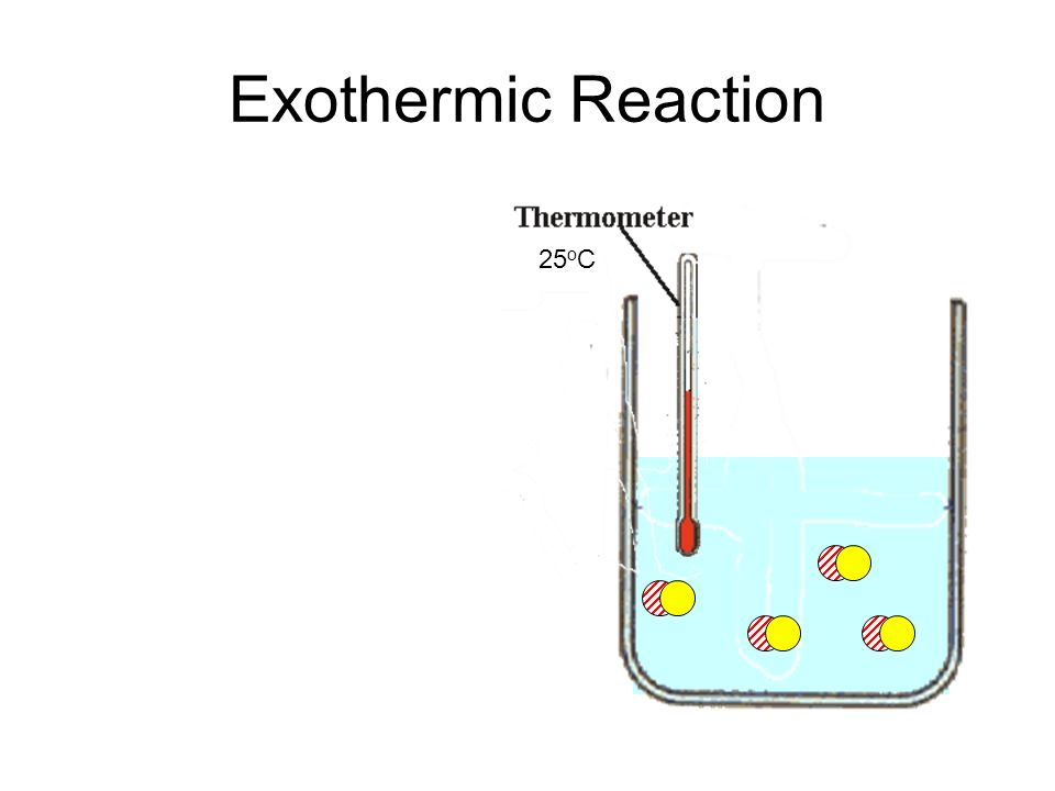 Exothermic Reaction 25 o C
