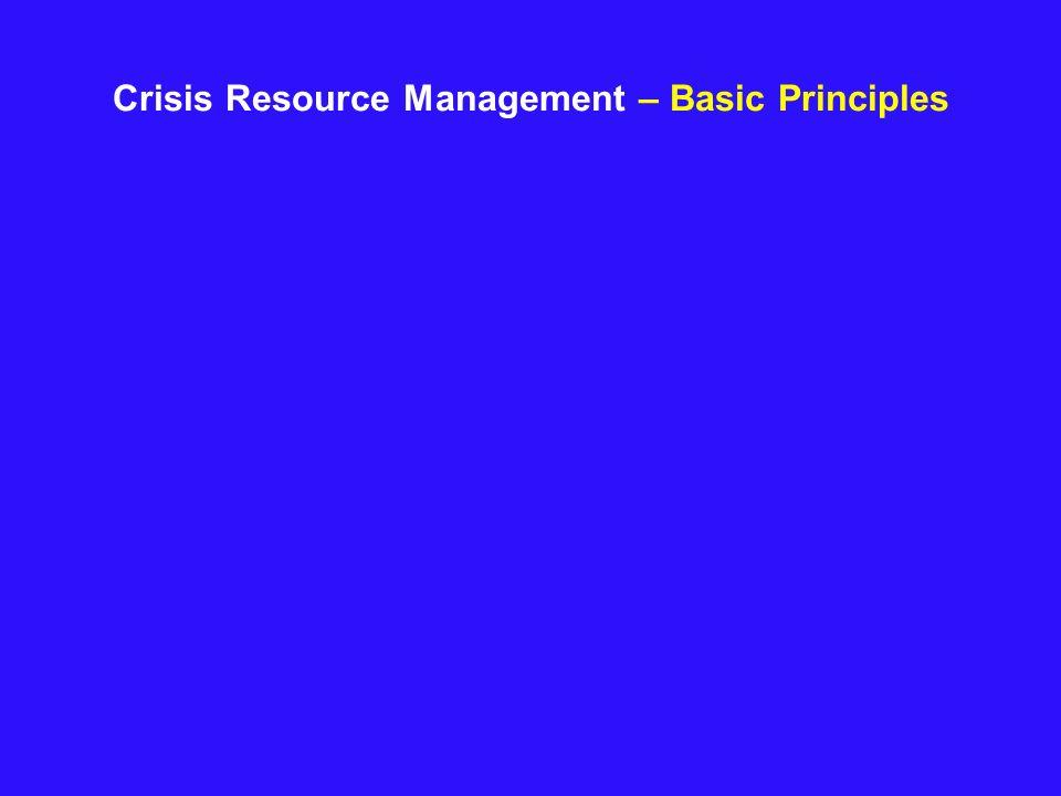 Crisis Resource Management – Basic Principles
