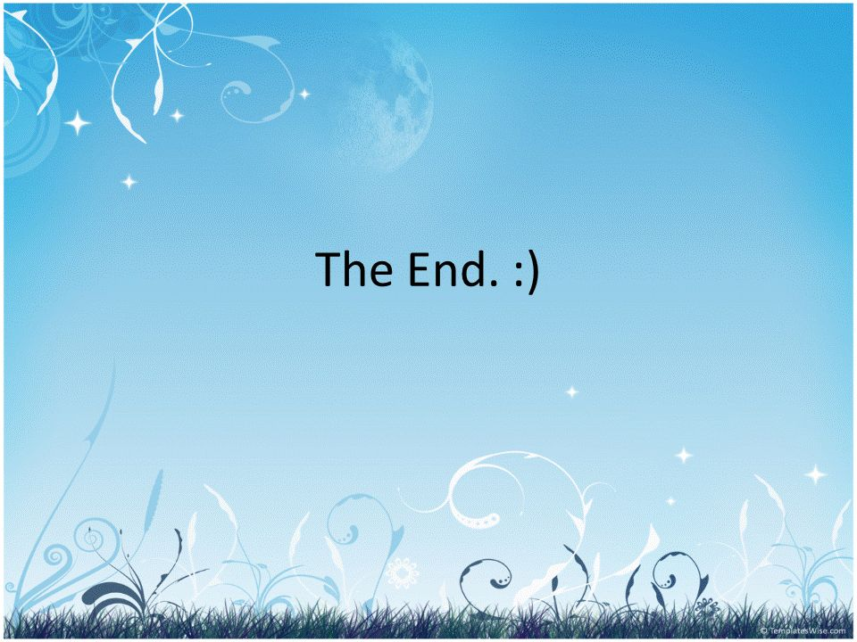 The End. :)