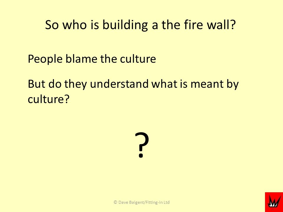 So who is building a the fire wall.