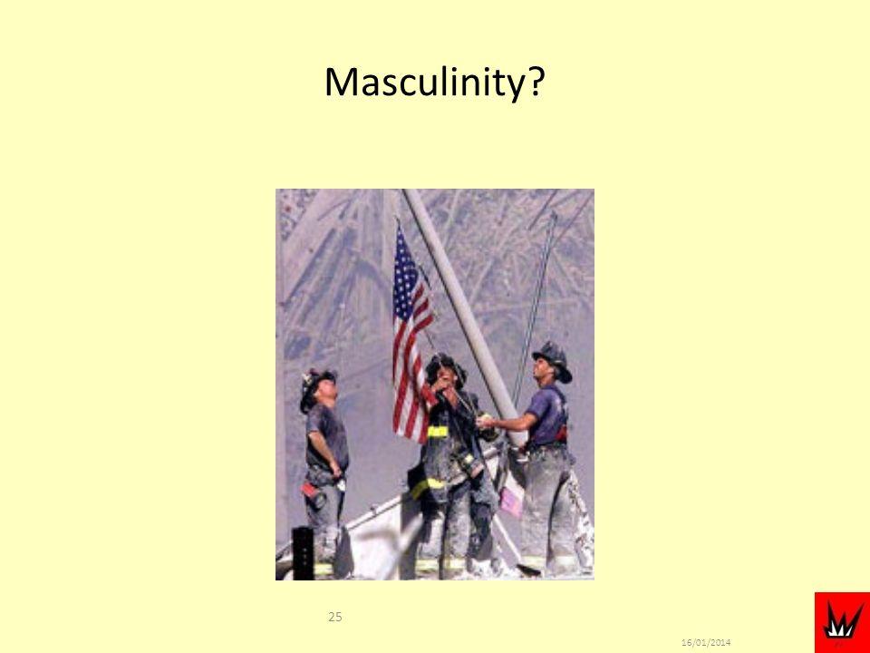 16/01/2014 25 Masculinity?