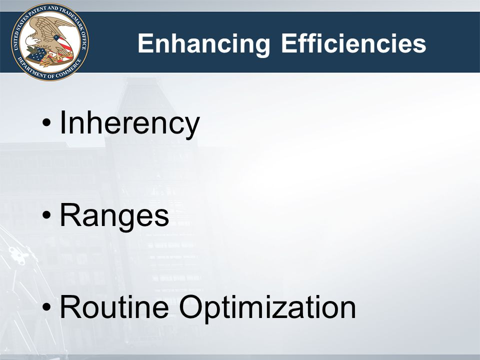 Inherency Ranges Routine Optimization Enhancing Efficiencies