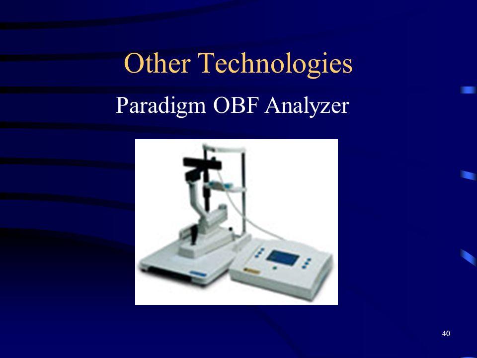 Other Technologies Paradigm OBF Analyzer 40
