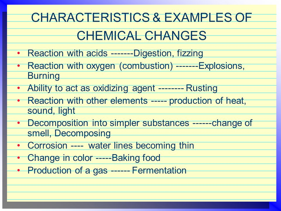 CHEMICAL REACTIONS Reactants: are the substances that enter a chemical reaction Products: are the substances formed by a chemical reaction