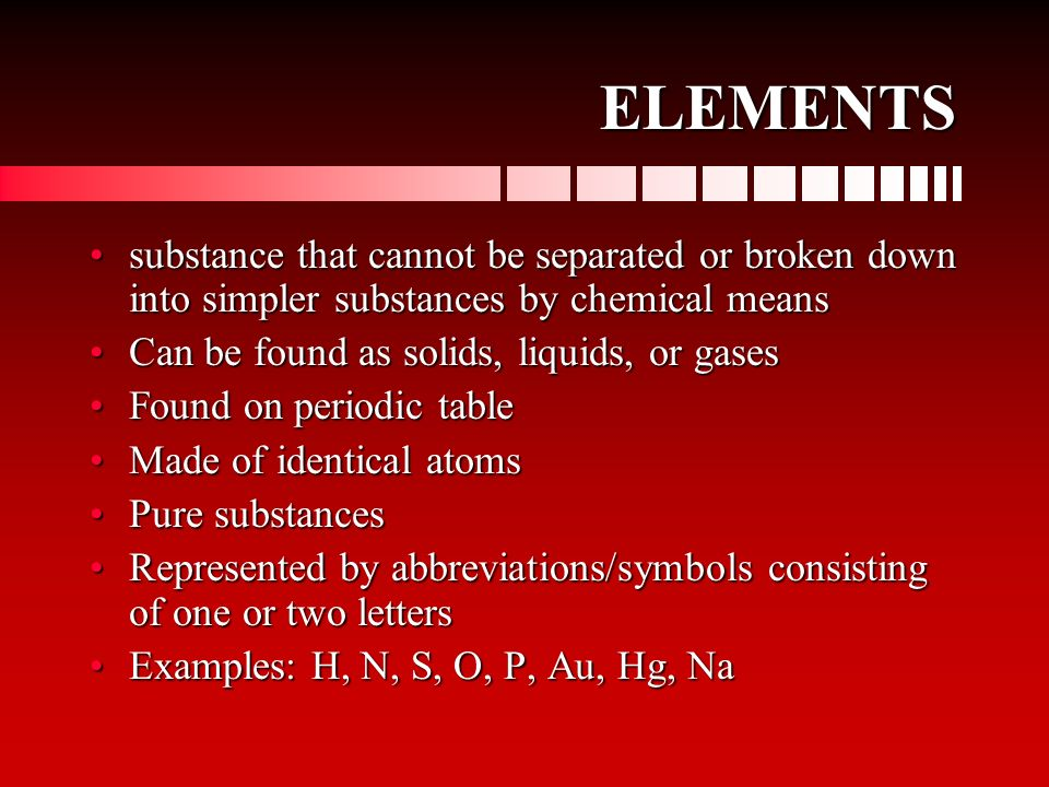 PURE SUBSTANCE sample of matter, either a single element or a single compound, that has definite chemical and physical propertiessample of matter, eit