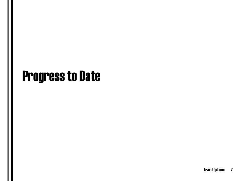 Travel Options7 Progress to Date