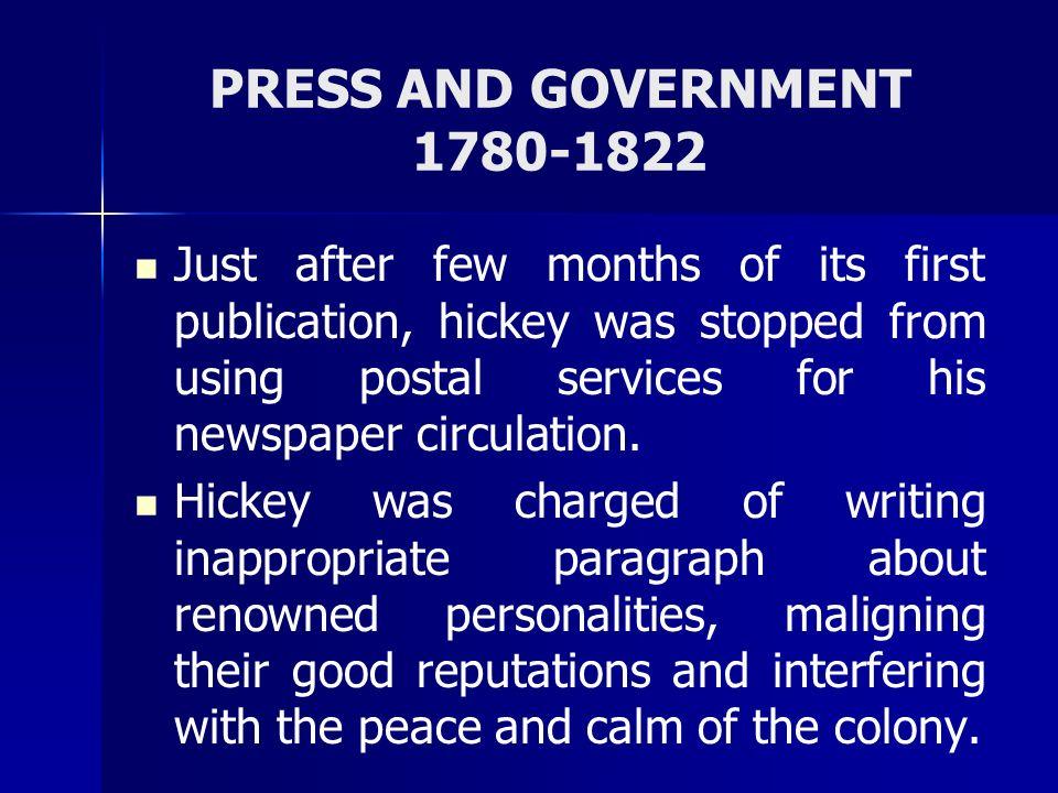 PRESS AND GOVERNMENT Pre-Post 1857 Sadaq-al-akhbar edited by Syed Jamiluddin and Delhi Urdu Akhbar edited by Maulvi Muhammad Baqir were closed down by the Raj as a punishment to stand against them.