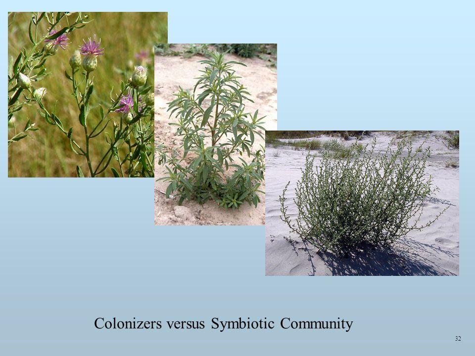 Colonizers versus Symbiotic Community 32