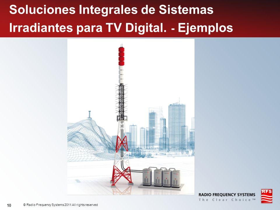 © Radio Frequency Systems 2011 All rights reserved 10 Soluciones Integrales de Sistemas Irradiantes para TV Digital. - Ejemplos
