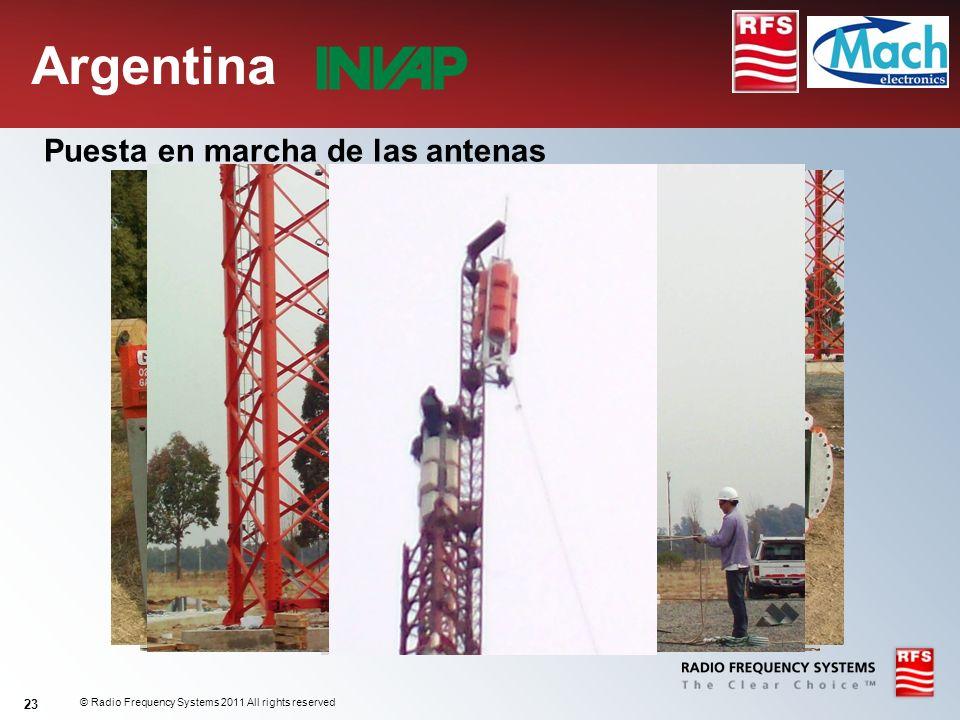 © Radio Frequency Systems 2011 All rights reserved 23 Puesta en marcha de las antenas Argentina