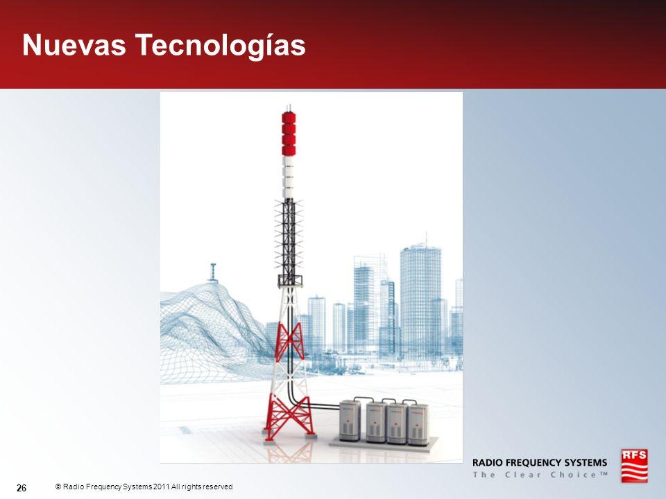 © Radio Frequency Systems 2011 All rights reserved 26 Nuevas Tecnologías